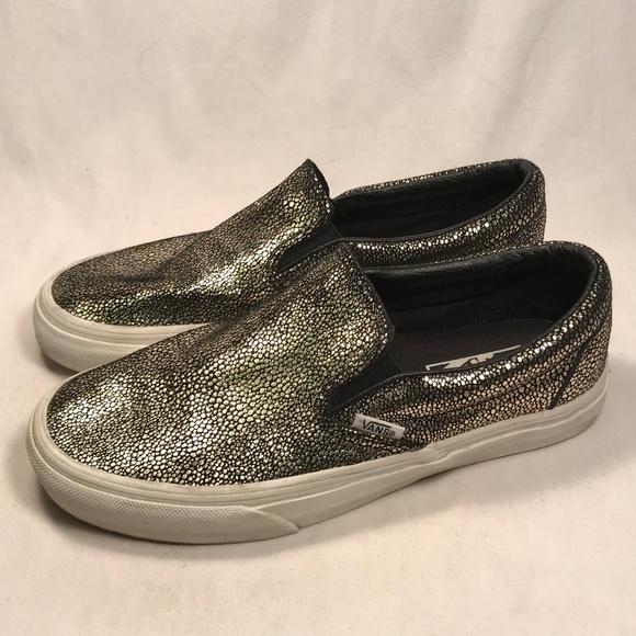 533ae29727 Vans Sparkle Reflective Slip on Shoes Women 7.5. M 5c7e71c534a4ef93748b20d8